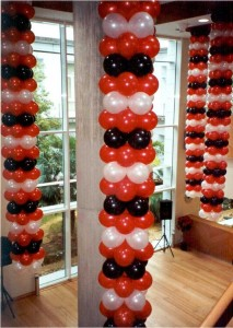 decoración globos helio aniversario fabrica Panama Jack