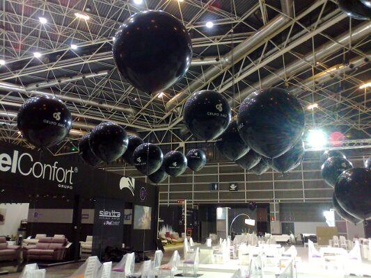 decoración globos helio feria de muestras