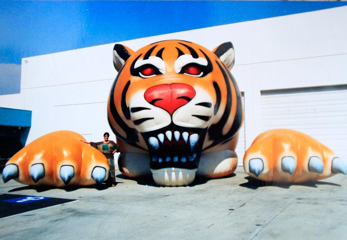 animales con globos