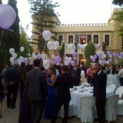 decoración globos helio boda altea