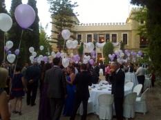 decoración globos helio boda altea
