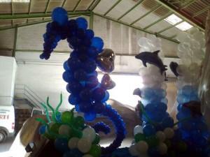decoración globos helio cabalgata de reyes