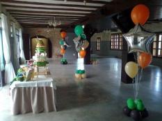 decoración globos helio comunión Mas de Alcedo