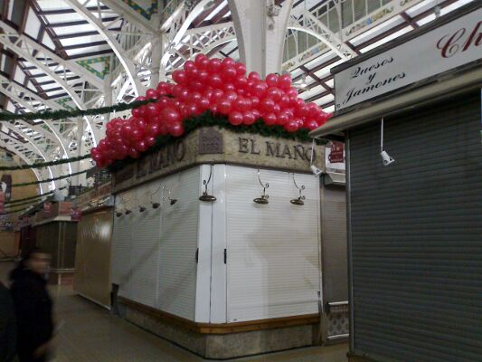 decoración globos helio mercado central